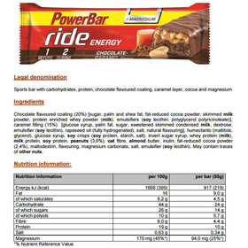 PowerBar RideEnergy Bar Sacoche 18 x 55g, Chocolate-Caramel